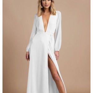 Tobi white maxi plunge dress